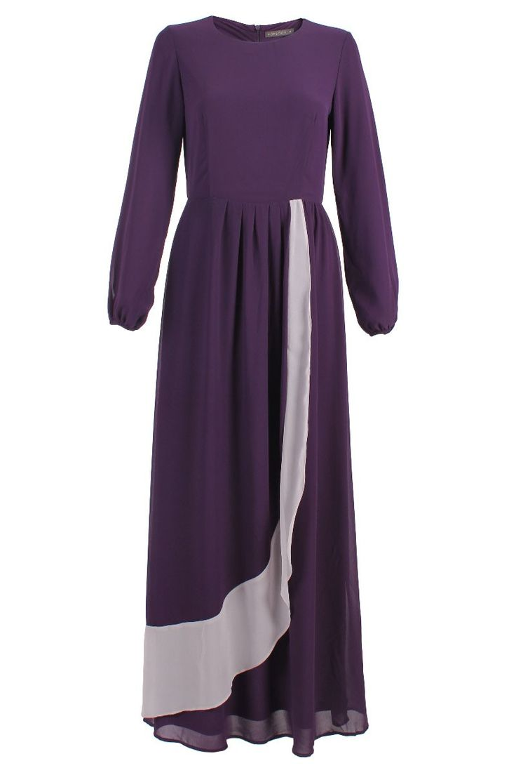 Pallavi Chiffon Maxi Dress - Dark Purple