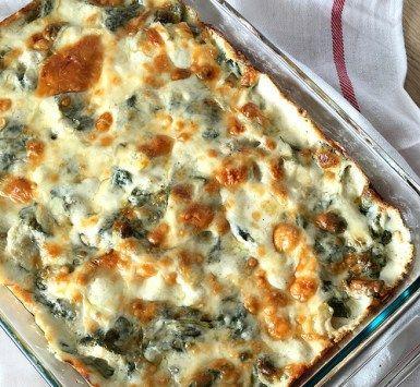Spinach and Artichoke Tortellini Bake
