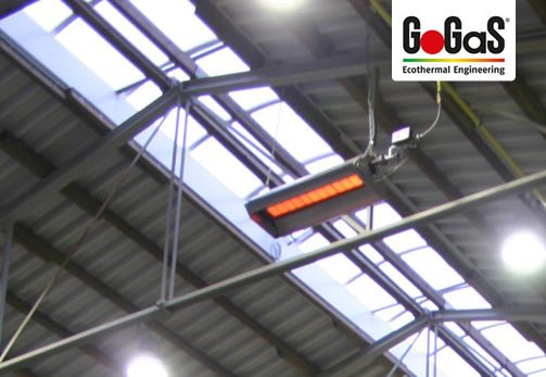GoGaS High intensity heater KMI: Efficient gas infrared high intensity heater with a small need of space under the ceiling. For further information visit www.gas-infrarot.com www.gopres.de.
