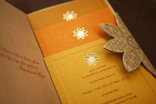 Bright and Orange! #Indian wedding invitations