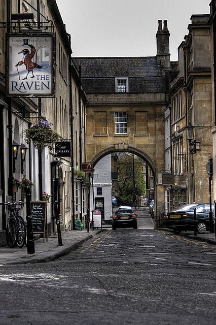Arched Street, Bath, UK | by oz_jester.  I've eaten at The Raven!  They have the most delicious meat pies
