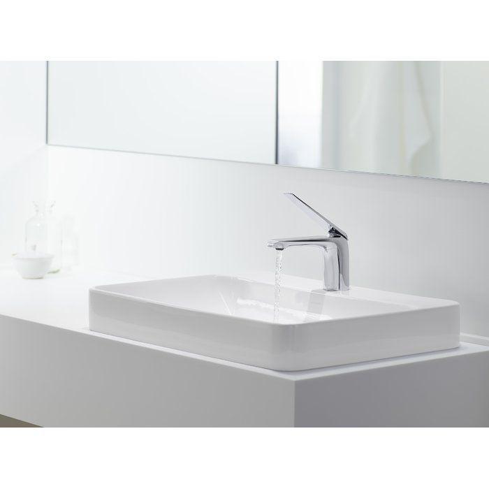 Vox Vitreous China Rectangular Vessel Bathroom Sink With Overflow White Vessel Sink Bathroom