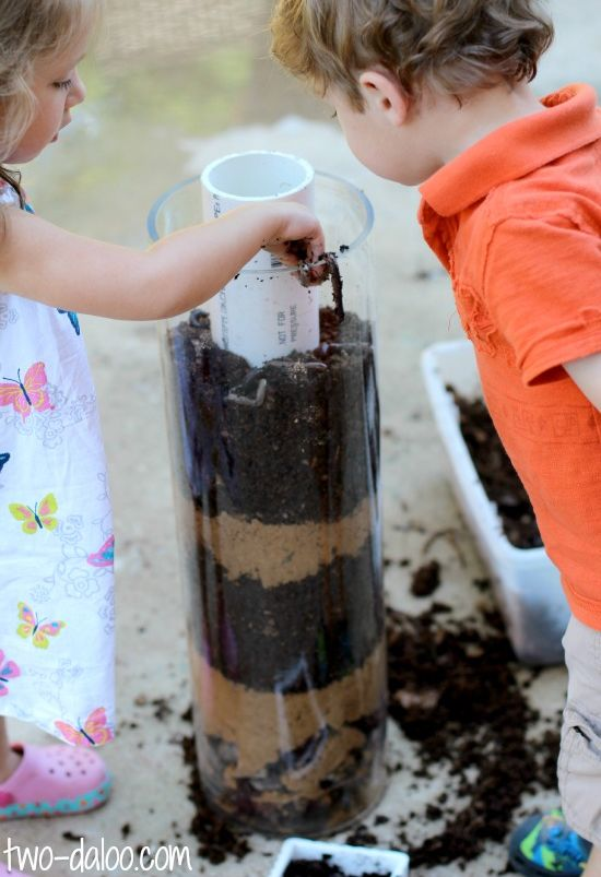 On a gardening kick--worm observation, it would be even better if it was a composting display.