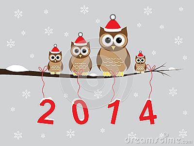 Happy new year 2014 Pinned by www.myowlbarn.com