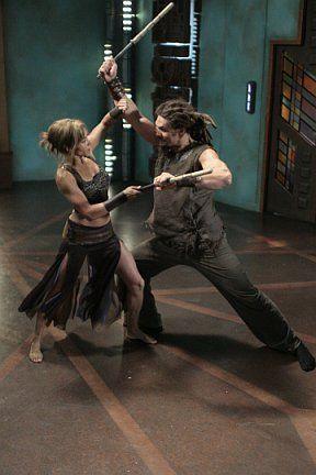 If I get well enough, I am going to learn escrima stick fighting, what Teyla and Ronon are doing here. It's a beautiful and amazing martial art.
