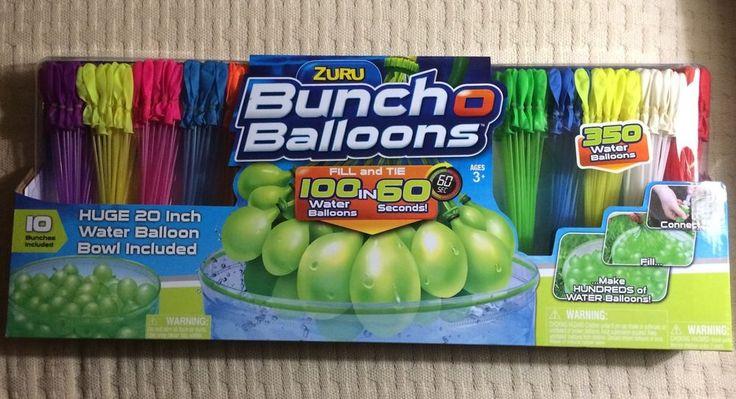 Zuru Water Buncho Balloons 350 Pack Fill Tie 100 in 60 Secs Pool Party Yard New | eBay