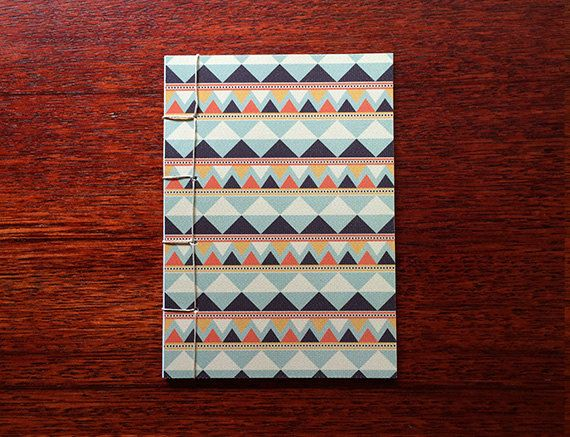 Japanese Bound A6 Notebook 'Kvothe' geometric by TellThemStories