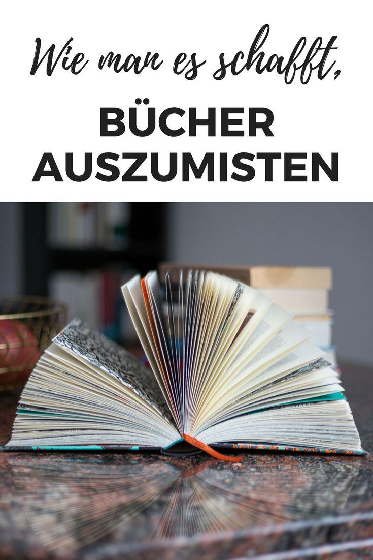 Bücher ausmisten - das ist für viele Menschen eine Qual. Muss es aber nicht sein - wie du deine Bücher minimalisierst und wieder Freiraum im Wohnzimmer bekommst.