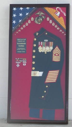 Marine Corps Uniform Shadowbox -- this would be an awesome retirement gift