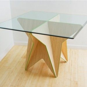 Unique Table Made Of Bamboo With Star Form  · Table BasesBamboo