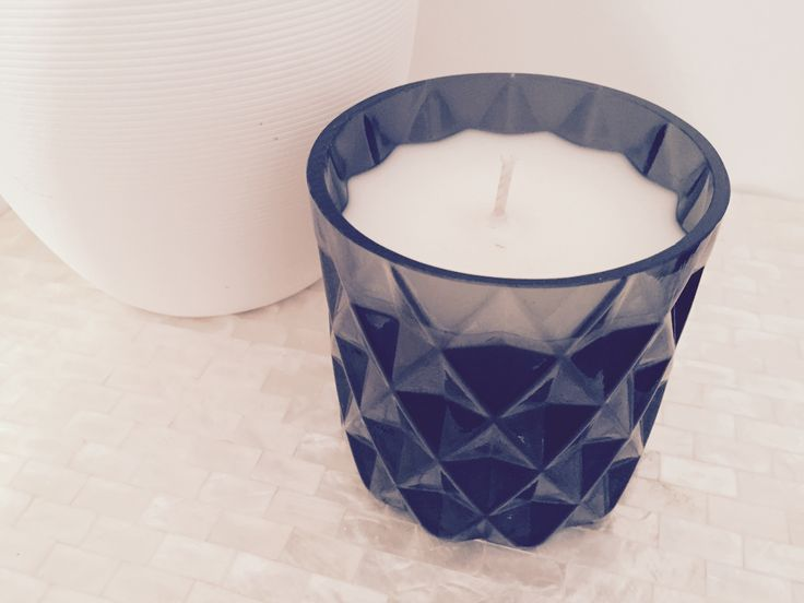 Limited Edition Black Cut Glass Candle