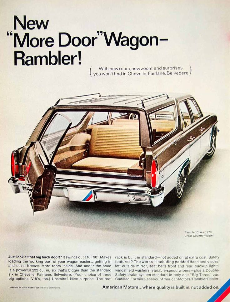 1966 Ad American Motors Rambler Classic 770 Cross Country Station Wagon Car YLZ1