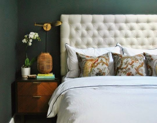 Forest Green Bedroom from Apartment Therapy in copy-cat-chic room redo