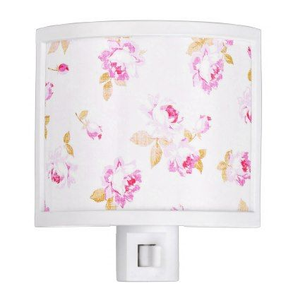 Shabby Chic Pale Pink Night Light - light gifts template style unique special diy