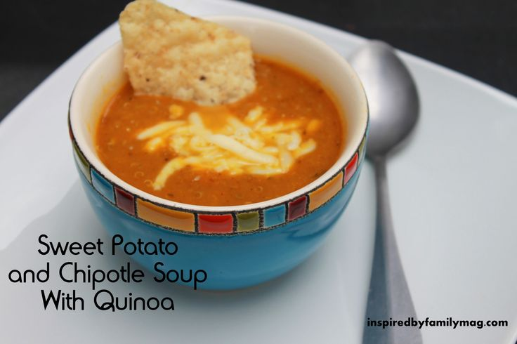 sweet potato and chipotle soup with quinoa
