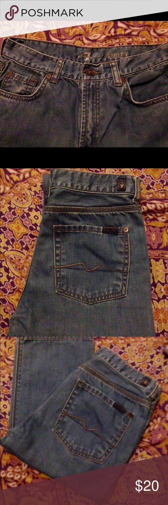 GIRL'S SEVEN OF ALL MANKIND JEANS - 'SLIMMY' SZ 14 Seven off all mankind jeans - 'slimmy' - size 14 EUC Seven of all mankind  Bottoms Jeans