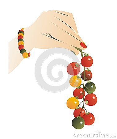 #hand holding a colorful #cherry #truss #tomatoes