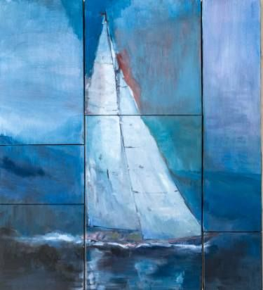 "Saatchi Art Artist Laura Beatrice Gerlini; Painting, ""The sailing yacht"" #art"