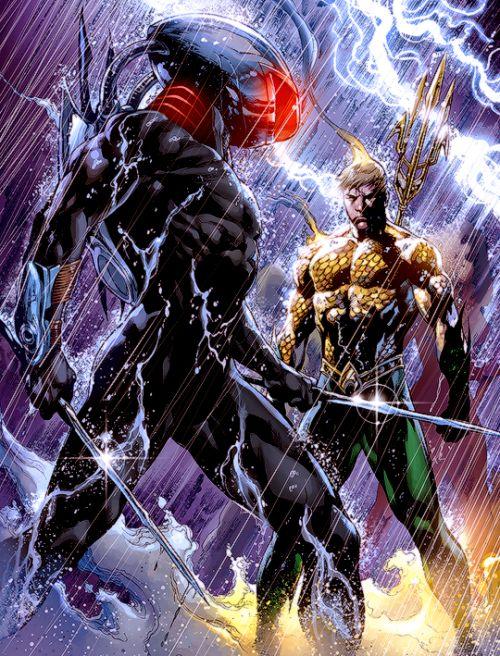 Aquaman versus Black Manta