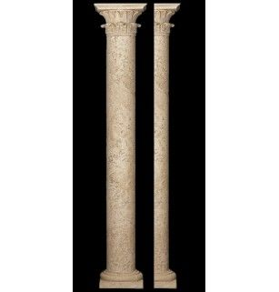 Faux stone columns roselawnlutheran for Decorative exterior columns