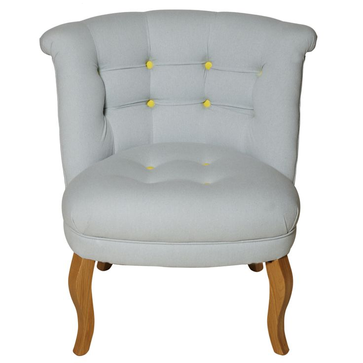 Buy Contrast Button Cotton Tub Chair from Oliver Bonas