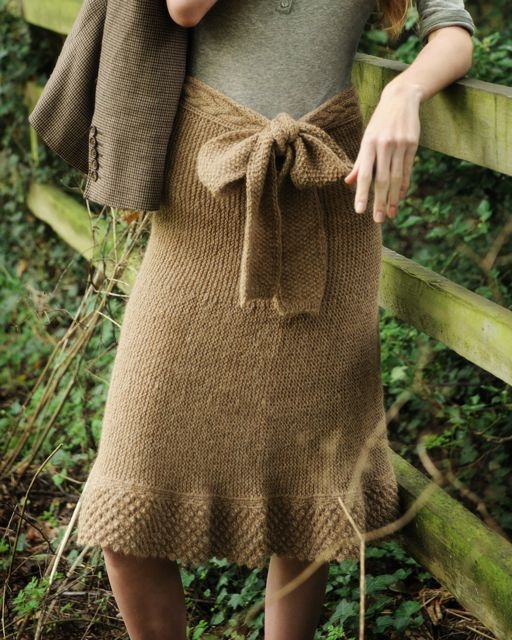 Purl Alpaca Designs - Knitting Patterns - Gaia Skirt  This is awesome.  A knitted skirt I might really be able to wear.