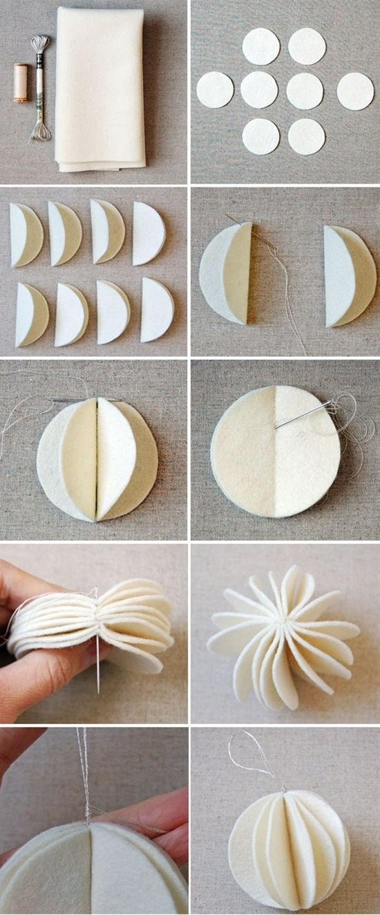 felt Christmas ornaments - Click image to find more DIY & Crafts Pinterest pins
