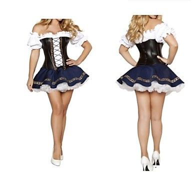 Classic Mediaeval Terylene Dress Women's Oktoberfest Costume – USD $ 29.99