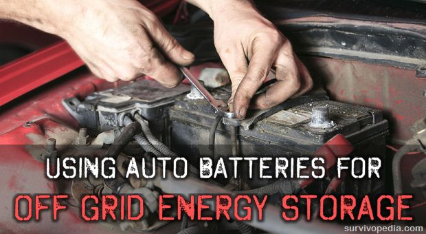 Using Auto Batteries For Off Grid Energy Storage