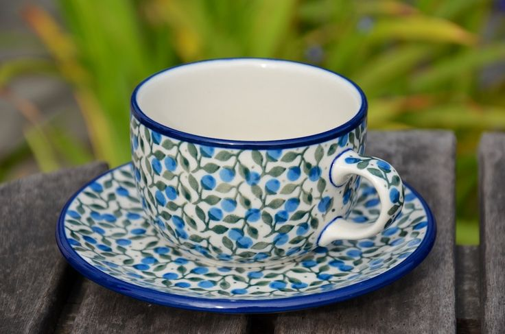 One of many cups and saucers we have on offer in our shop and on our website.  Visit www.polkadotlane.co.uk