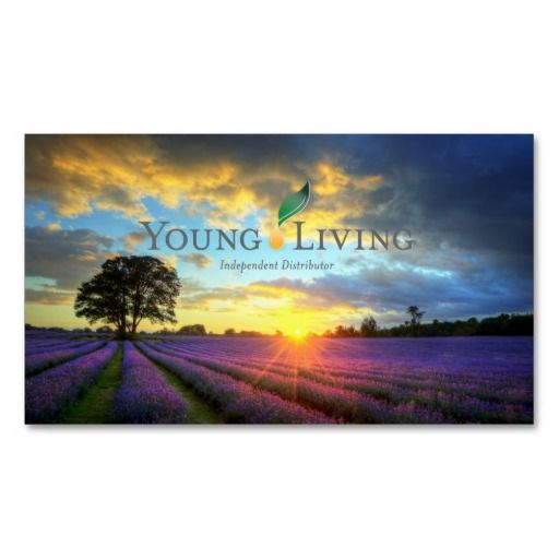 Young Living Business Card Template: Young Living Business Cards