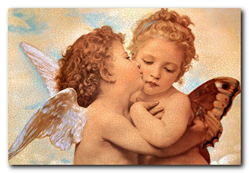 Liven up your kid's bedroom with this beautiful William-Adolphe Bouguereau the first kiss picture art print poster. This lovely poster is sure to bring a pretty atmosphere into your home and grab you many compliments from your guests who visit you home. It goes well with your kid's bedroom which will surely bring smile on their face. Hurry up! Grab this wonderful wall poster for its durable quality with a high degree of color accuracy which ensures long lasting beauty of the poster without…