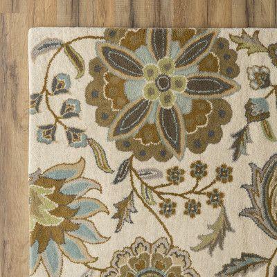 Birch Lane Jasmine Parchment & Moss Rug