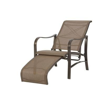 Grand Bank Lounge Chair With Pull Out Ottoman Patio