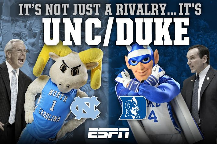 UNC vs. Duke: Best All Time Basketball Rivalry. Go Heels!