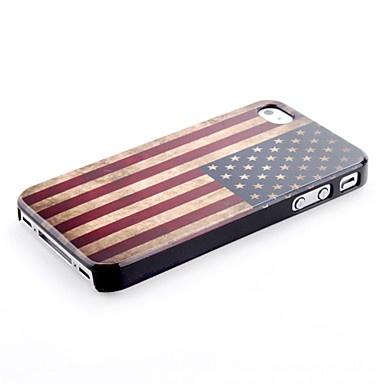 Vintage Amerikansk Flagg Case for iPhone 4 4S