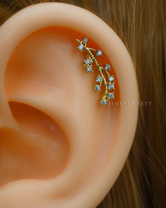 cartilage earring cartilage piercing16g cartilage por JennySweety