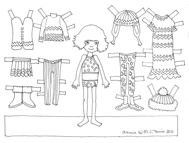 Best Paper Doll Black And White Images On   Paper