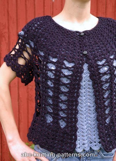 ABC Knitting Patterns - Midsummer Night Lace Cardigan.