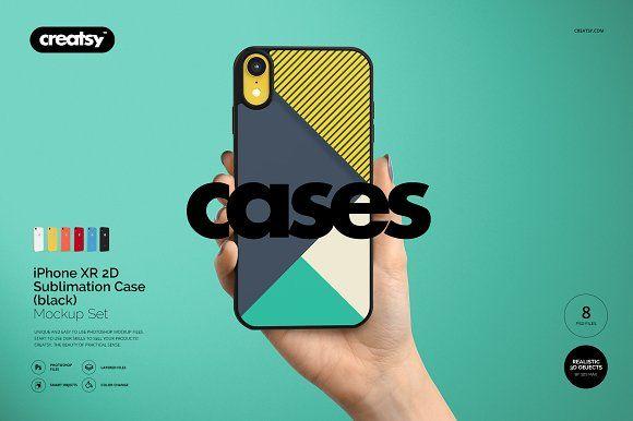 Download Iphone Xr 2d Case Black Mockup Set Iphone Case Phone Template