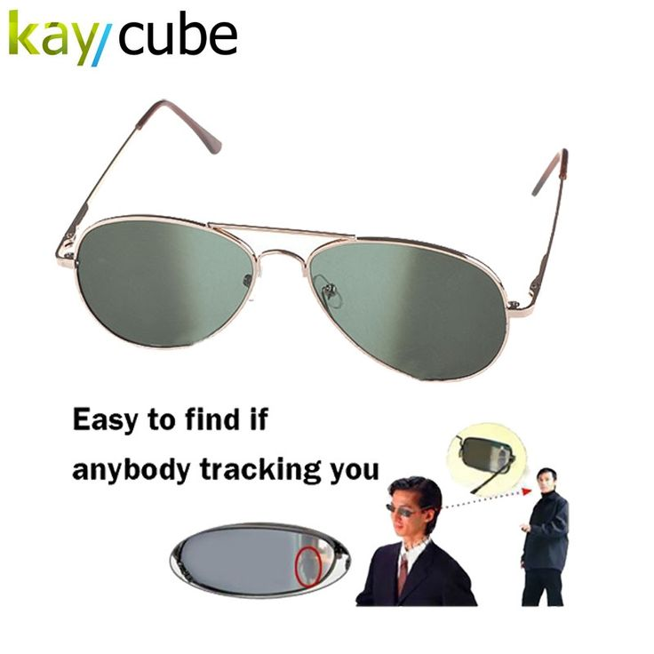9.41$  Watch now - http://ali06p.shopchina.info/go.php?t=32792388421 - Anti UV Anti-Tracking Sunglasses Anti-Track Monitor Sunglasses Rearview Sunglasses Black Glasses Security Mirror bug detector   #buyonline