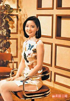 1970s teresa teng - who has been seen on stage wearing a Qipao for her concerts...