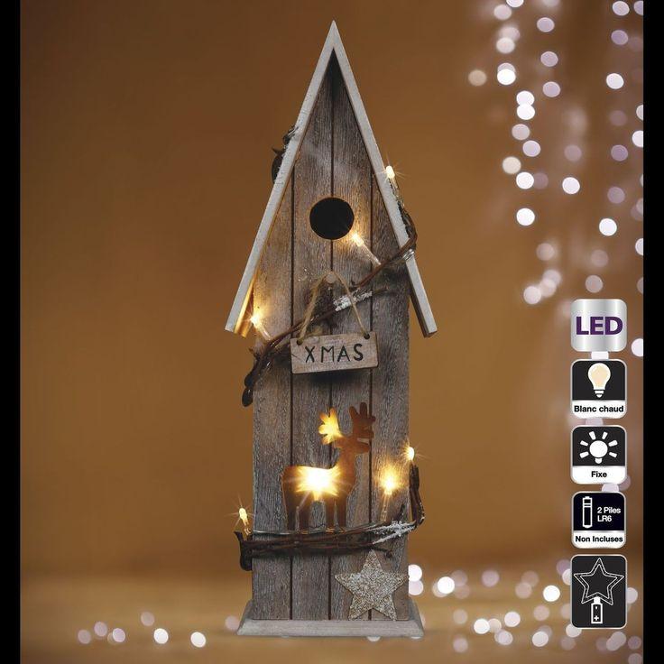 Chalet De Noël Lumineux En Bois – Kservices – Taille : Taille Unique