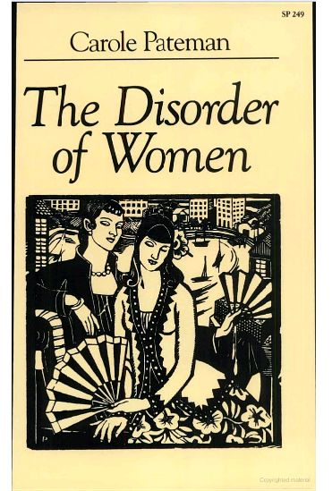 175 best books by affiliated faculty images on pinterest history the disorder of women by carole pateman csw affiliated faculty member fandeluxe Choice Image
