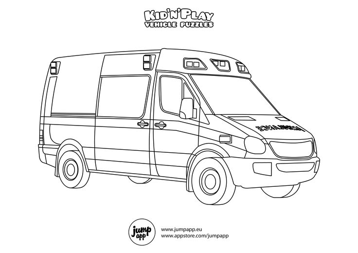 ambulance printable coloring pages pinterest