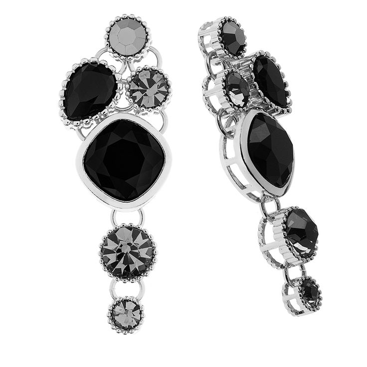 Elegancja i dyskretny luksus - kolczyki KENDALL Black Silver.