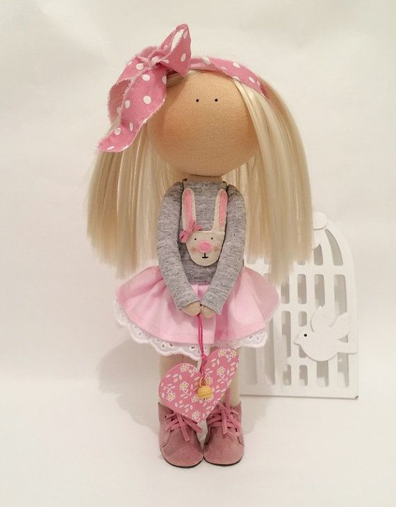 Hello, dear visitors!  This is handmade soft doll created by Master Marina ToyShop (Stavropol, Russia). Doll is 30 cm (11.4 inch) tall and made