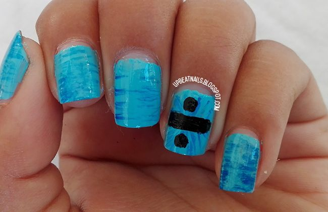 Divide by Ed Sheeran nail art