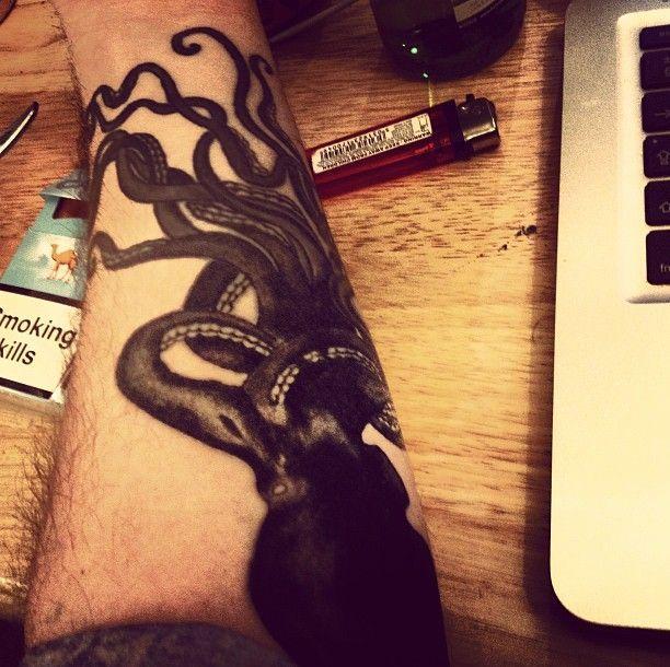 Yannis Philippakis' tattoo