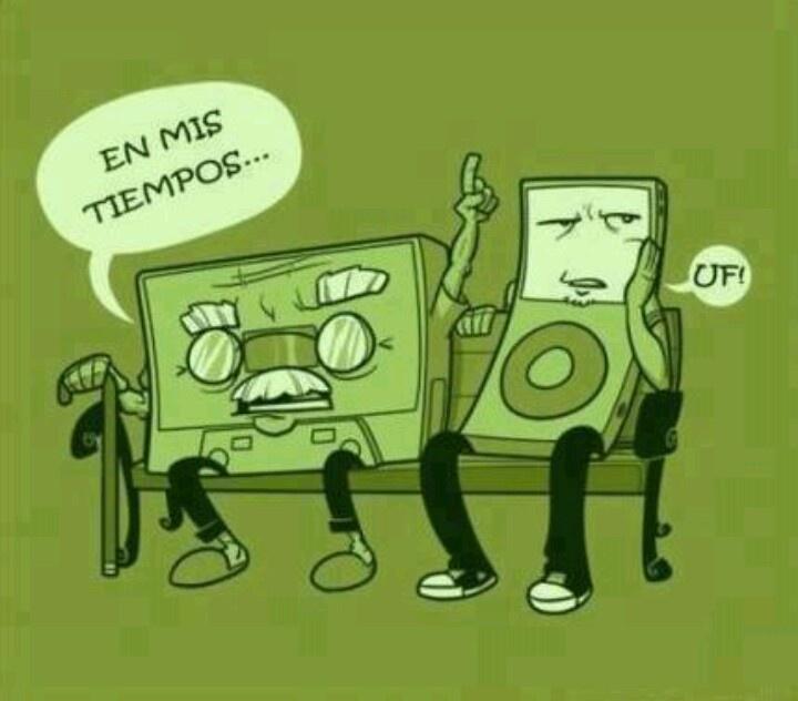 Tecnologia#casete vs ipod#en mis tiempos...#...